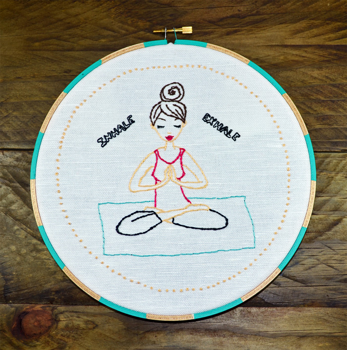 Yoga Girl, Meditation, Body & Mind, Relaxation, Hand Embroidery PDF Pattern